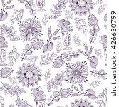 seamless pattern in vintage... | Shutterstock . vector #426630799