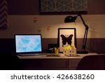 stylish workplace with laptop...   Shutterstock . vector #426638260