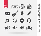 music icons set  audio... | Shutterstock .eps vector #426639664