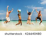 people celebration beach party... | Shutterstock . vector #426640480