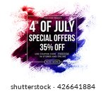 4th of july special offers  4th ... | Shutterstock .eps vector #426641884