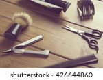 Portrait Of Barber Tools On...