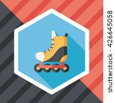 roller skates flat icon with... | Shutterstock .eps vector #426645058