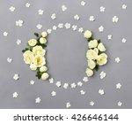 Frame Of White Roses  Burnet...