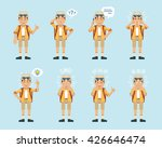 set of tourist characters... | Shutterstock .eps vector #426646474