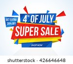 4th of july super sale  super... | Shutterstock .eps vector #426646648