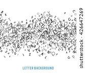 abstract black alphabet... | Shutterstock . vector #426647269