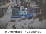 histogram statistics graph bar... | Shutterstock . vector #426650410