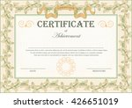 vintage certificate ornament... | Shutterstock .eps vector #426651019