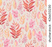 Seamless Pattern Of Colorful...
