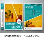brochure design template vector.... | Shutterstock .eps vector #426653443