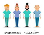 doctors and nurses and medical... | Shutterstock .eps vector #426658294