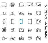 electronic devices icons with... | Shutterstock .eps vector #426662023