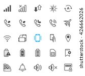 notification icons for mobile... | Shutterstock .eps vector #426662026