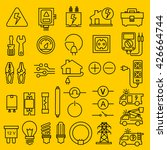 electricity icons | Shutterstock .eps vector #426664744