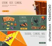 rock climbing adventure... | Shutterstock .eps vector #426665260