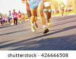 unidentified marathon athletes... | Shutterstock . vector #426666508