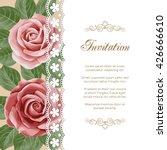 vintage floral invitation... | Shutterstock .eps vector #426666610