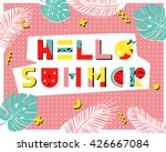 hello summer poster. hand drawn ... | Shutterstock .eps vector #426667084