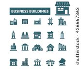 business buildings icons  | Shutterstock .eps vector #426667363