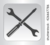 silhouette isolated wrench...