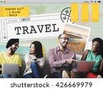 trip travel destination explore ... | Shutterstock . vector #426669979