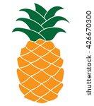 pineapple plant silhouette... | Shutterstock .eps vector #426670300