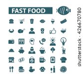 fast food icons  | Shutterstock .eps vector #426670780