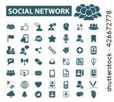 social network icons  | Shutterstock .eps vector #426672778