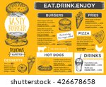 menu placemat food restaurant... | Shutterstock .eps vector #426678658