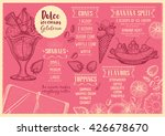 sweet ice cream menu placemat... | Shutterstock .eps vector #426678670