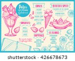 ice cream menu placemat food... | Shutterstock .eps vector #426678673
