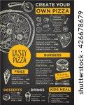 menu placemat food restaurant... | Shutterstock .eps vector #426678679