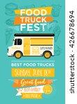 food truck festival menu food... | Shutterstock .eps vector #426678694