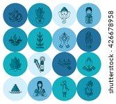 diwali. indian festival icons.... | Shutterstock .eps vector #426678958