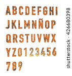 numberal and alphabet letters... | Shutterstock . vector #426680398