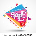 sale banner and best offer... | Shutterstock .eps vector #426683740
