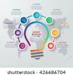 vector idea light bulb circle... | Shutterstock .eps vector #426686704