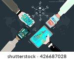 vector workspace businessman... | Shutterstock .eps vector #426687028