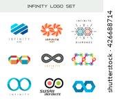 infinity logo set. infinity... | Shutterstock .eps vector #426688714