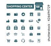 shopping center icons  | Shutterstock .eps vector #426694729