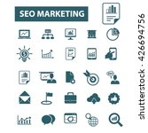 seo marketing icons  | Shutterstock .eps vector #426694756
