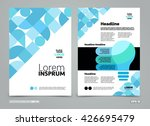 brochure template  cover design ... | Shutterstock .eps vector #426695479