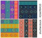 set of rhombuses seamless... | Shutterstock .eps vector #426698410