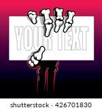 skeleton hand and arm holding... | Shutterstock .eps vector #426701830