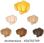 fisted hand sign emoji set of... | Shutterstock .eps vector #426702769