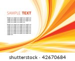 summery wave | Shutterstock .eps vector #42670684