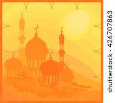 ramadan kareem greeting card.... | Shutterstock .eps vector #426707863