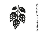 hops icon. beer and hop symbol. ...