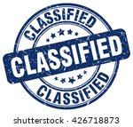 classified. stamp | Shutterstock .eps vector #426718873